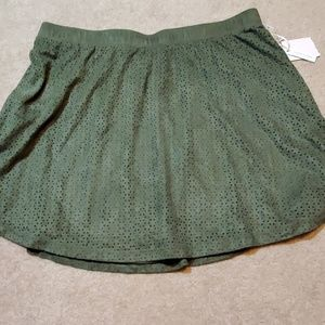 Candies size Large  olive green cut out skirt